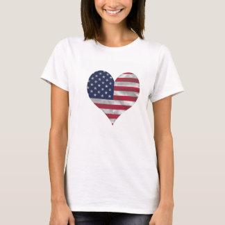 USA Flag Women's Hanes T-Shirt