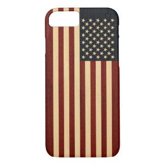 USA FLAG WOOD iPhone 7 CASE