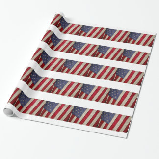 USA FLAG WRAPPING PAPER