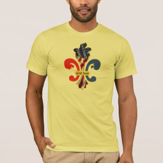 USA Fleur de lis custom design T-Shirt