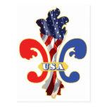 USA Fleur de lis Post Cards
