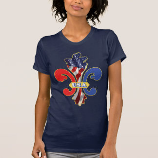 USA Fleur de lis Tees
