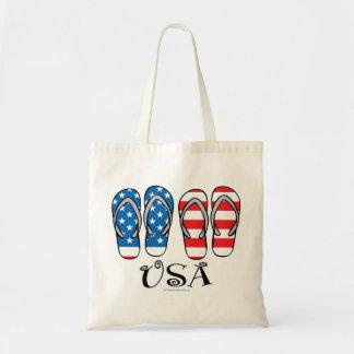 USA Flip Flops Budget Tote Bag