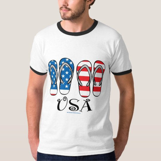 USA Flip Flops T-Shirt