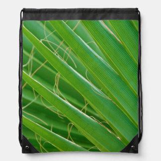 USA, Florida. Close Up Of Palm Fronds Drawstring Bag