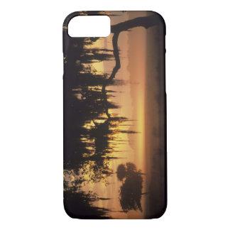 USA, Florida, Lake Kissimmee. Sunrise silhouette iPhone 8/7 Case