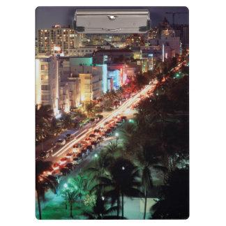 USA, Florida, Miami Beach, Ocean Drive, Art Deco 2 Clipboard