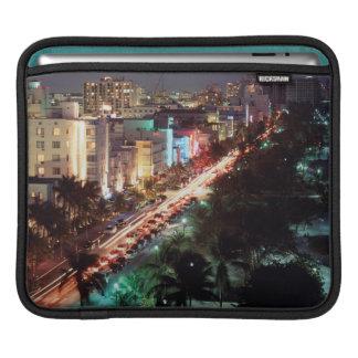 USA, Florida, Miami Beach, Ocean Drive, Art Deco 2 iPad Sleeve