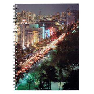 USA, Florida, Miami Beach, Ocean Drive, Art Deco 2 Notebook