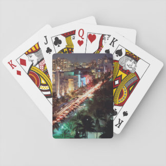 USA, Florida, Miami Beach, Ocean Drive, Art Deco 2 Playing Cards