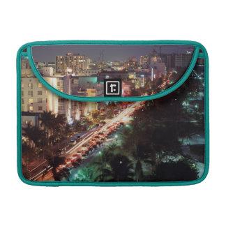 USA, Florida, Miami Beach, Ocean Drive, Art Deco 2 Sleeve For MacBooks