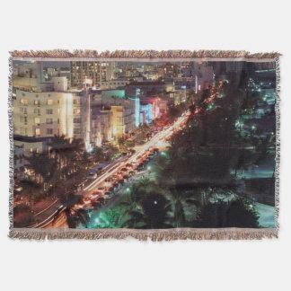 USA, Florida, Miami Beach, Ocean Drive, Art Deco 2 Throw Blanket