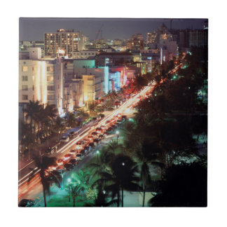 USA, Florida, Miami Beach, Ocean Drive, Art Deco 2 Tile