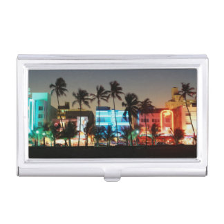 USA, Florida, Miami Beach, Ocean Drive, Art Deco Business Card Holder