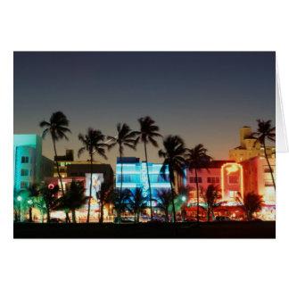USA, Florida, Miami Beach, Ocean Drive, Art Deco Card