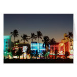 USA, Florida, Miami Beach, Ocean Drive, Art Deco Greeting Card