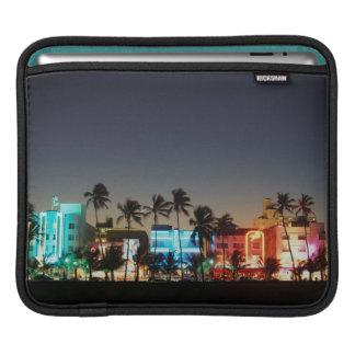 USA, Florida, Miami Beach, Ocean Drive, Art Deco iPad Sleeve