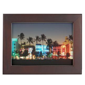 USA, Florida, Miami Beach, Ocean Drive, Art Deco Keepsake Box