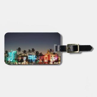 USA, Florida, Miami Beach, Ocean Drive, Art Deco Luggage Tag