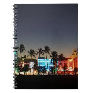 USA, Florida, Miami Beach, Ocean Drive, Art Deco Notebook