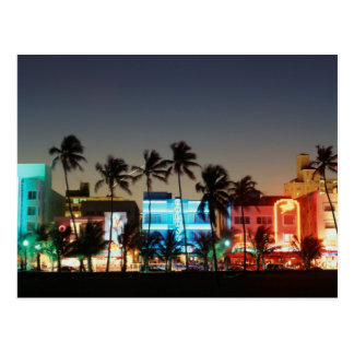 USA, Florida, Miami Beach, Ocean Drive, Art Deco Postcard