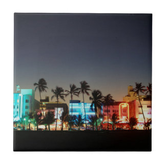 USA, Florida, Miami Beach, Ocean Drive, Art Deco Small Square Tile