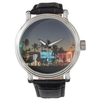 USA, Florida, Miami Beach, Ocean Drive, Art Deco Watch
