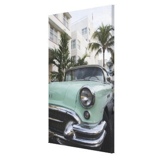 USA, Florida, Miami Beach: South Beach, 1956 3 Canvas Print