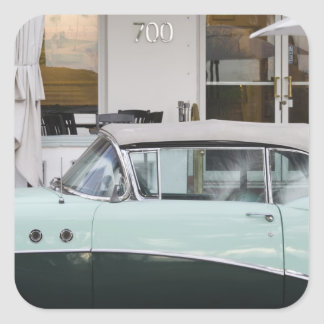 USA, Florida, Miami Beach: South Beach, 1956 Square Sticker