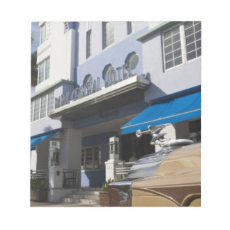 USA, Florida, Miami Beach: South Beach, Art Deco Notepad