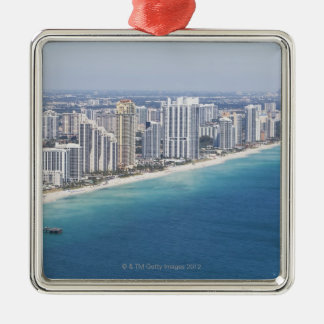 USA, Florida, Miami, Cityscape with beach 2 Christmas Ornament