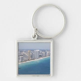 USA, Florida, Miami, Cityscape with beach 2 Keychains