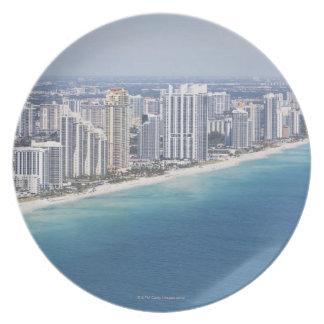 USA, Florida, Miami, Cityscape with beach 2 Plate
