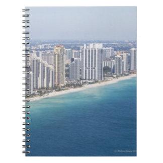 USA, Florida, Miami, Cityscape with beach 2 Spiral Note Books