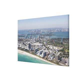 USA, Florida, Miami, Cityscape with beach 3 Canvas Prints