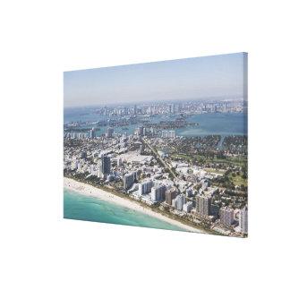 USA, Florida, Miami, Cityscape with beach 3 Canvas Print