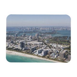 USA, Florida, Miami, Cityscape with beach 3 Flexible Magnet