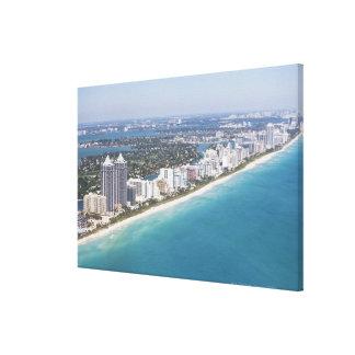 USA, Florida, Miami, Cityscape with beach Canvas Print