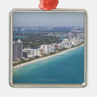 USA, Florida, Miami, Cityscape with beach Christmas Ornament
