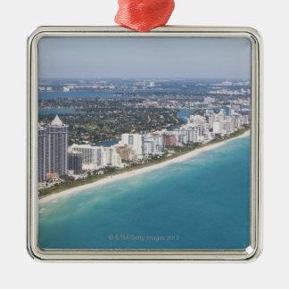 USA, Florida, Miami, Cityscape with beach Christmas Ornament
