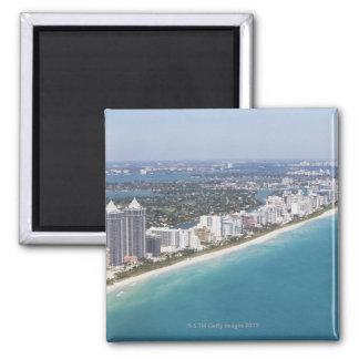 USA, Florida, Miami, Cityscape with beach Refrigerator Magnets