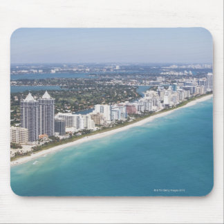 USA, Florida, Miami, Cityscape with beach Mouse Mat