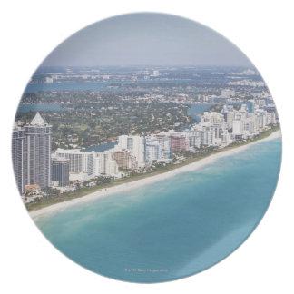 USA, Florida, Miami, Cityscape with beach Plate