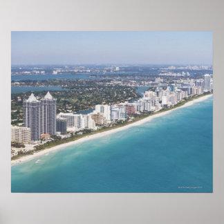 USA, Florida, Miami, Cityscape with beach Poster