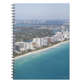 USA, Florida, Miami, Cityscape with beach Spiral Notebook