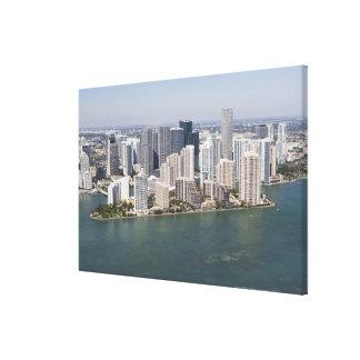USA, Florida, Miami, Cityscape with coastline 2 Canvas Prints