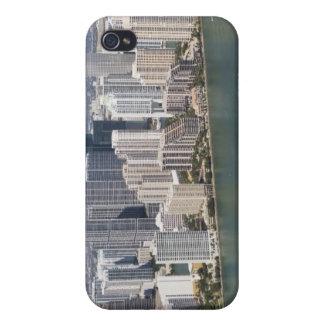USA, Florida, Miami, Cityscape with coastline 2 Case For iPhone 4