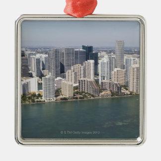 USA, Florida, Miami, Cityscape with coastline 2 Christmas Ornament