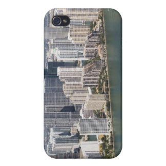 USA, Florida, Miami, Cityscape with coastline 2 iPhone 4/4S Covers