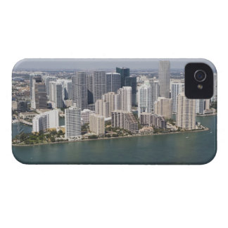 USA, Florida, Miami, Cityscape with coastline 2 iPhone 4 Case-Mate Cases